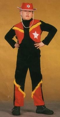 "Cowboy kostuum  "" Zwart / rood / geel ""  Sheriff"