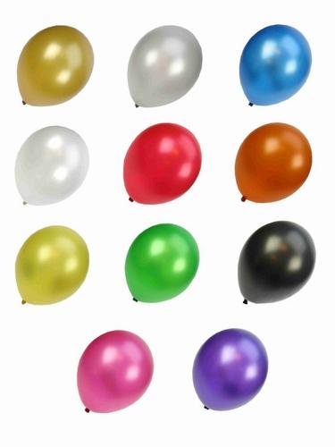"Metalic ballonnen  "" set van 100 stuks """