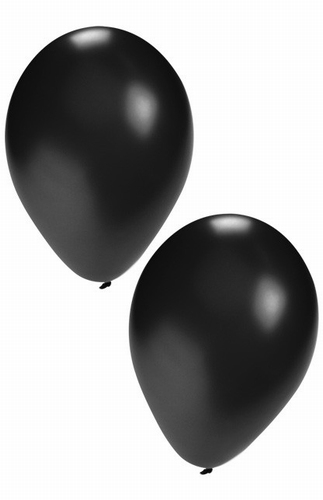 "Ballon  "" Zwart ""  per stuk"