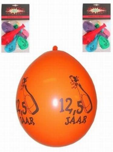 """Ballonnen  """" 12,5 jaar """" set van 8 stuks"""