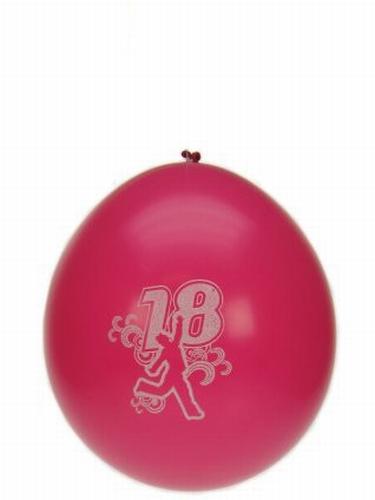"Ballonnen  "" Hoera 18 jaar "" set van 8 stuks"