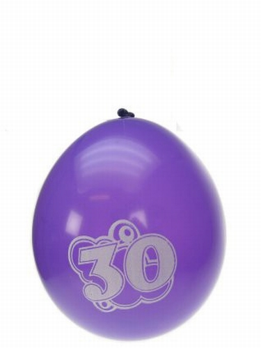 "Ballonnen  "" Hoera 30 jaar "" set van 8 stuks"