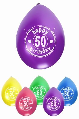 """Ballonnen """" 50 jaar today """"  set van 6 stuks"""