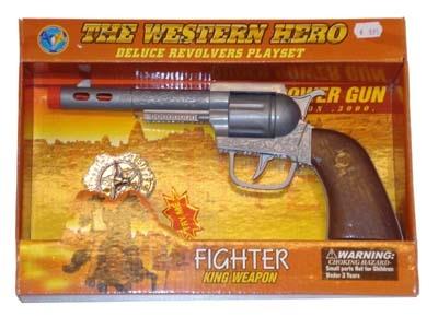 Cowboy pistool met licht + sheriff ster