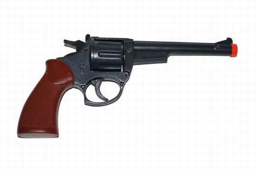 """Klapper pistool """" 8 schots """"  Zwart"""