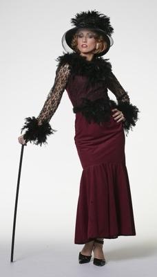 Gothic jurk bordeaux