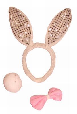 """Bunny set """" Rose glitter """"  3-delig"""