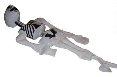 Opblaasbare skelet