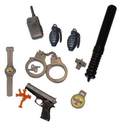 Politie accessoires set