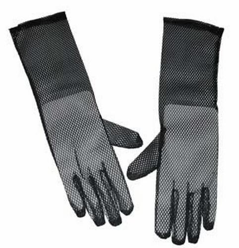 """Lange nethandschoenen """" Zwart  """"  40 cm"""