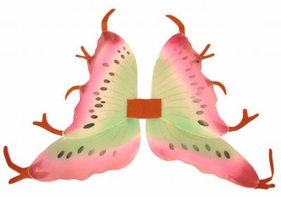 """Vleugels  """" Roze / groen / bruin """""""
