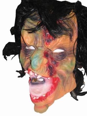 """Masker  """" Griezel met verbrand gezicht + haar """""""