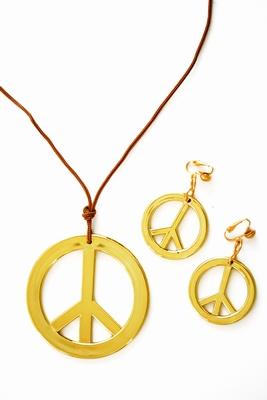 """Ketting + oorbellen + hoofdband  """" Peace  """""""