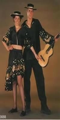 """Spaanse dansers kiel   """" Zwart / goud """""""