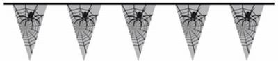 """Vlaggenlijn  """" Transparant  Spinnen """""""