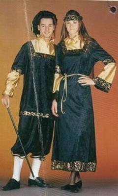 """Kasteel heren kostuum  """" Zwart / goud  """""""