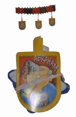 "Guirlande slinger  "" Abraham met feesthoed """