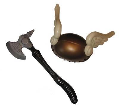 Viking bijl  + helm