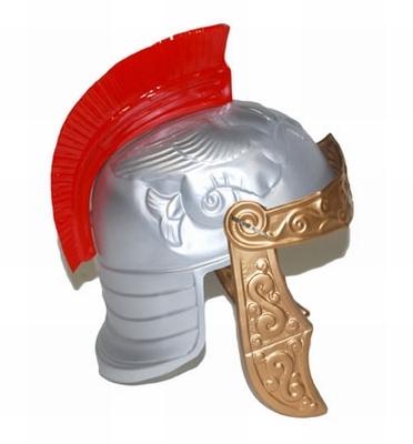 "Ridder helm met rode kam  "" Plastic """
