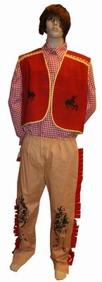"Cowboy  ""  Beige / rood """