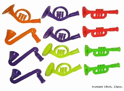 """Saxofoon / trompetten  """" Gekleurd """"  12 stuks"""