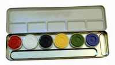 "Schmink paillet  ""  6 kleuren """