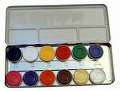 "Schmink paillet  ""  12 kleuren """