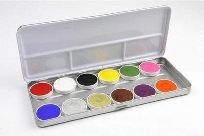 """Schmink paillet  """"  12 kleuren """"  Super star"""