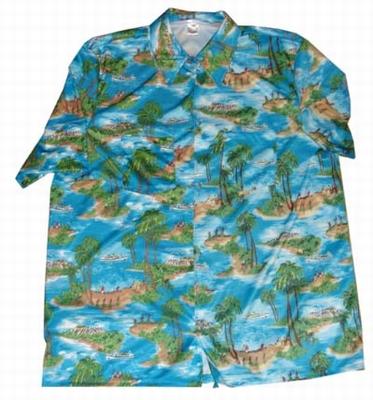 "Hawaii blouse  "" Blauw / groen  """