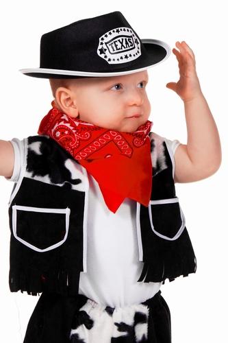 "Cowboyhoed  "" Texas ""  kind   Donker bruin"