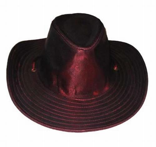 """Cowboyhoed  """" Metalic """" rood"""