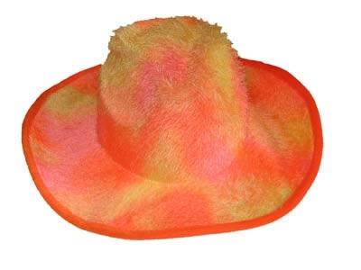 """Cowboyhoed  """" Plush """" oranje"""