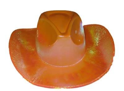 """Cowboyhoed  """" Glans """"  Oranje"""