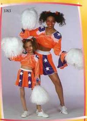"""Cheerlaeder  """" Oranje / paars """""""