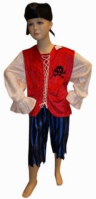 """Piraten jongen  """" Rood / blauw """""""