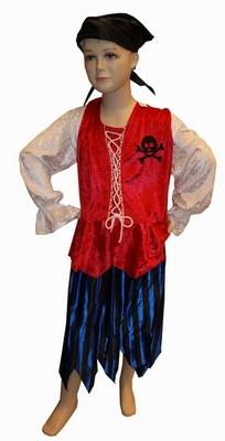 """Piraten meisje  """" Rood / blauw """""""