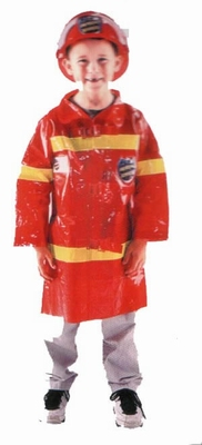 "Brandweerman jas  "" Rood """