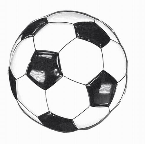 "Decoratie  "" Voetbal ""  53 cm"