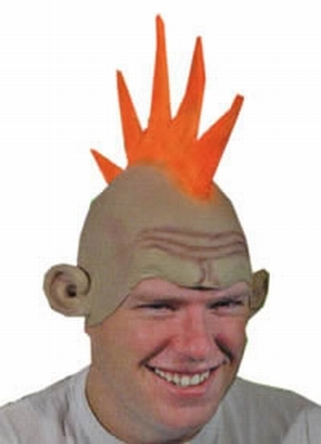 "Latex pruik Punk  "" Oranje """