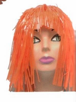 "Lurex pruik   "" Oranje """
