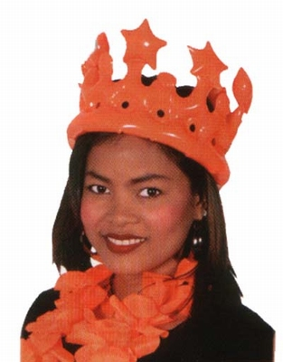 "Opblaasbare kroon  "" Oranje """