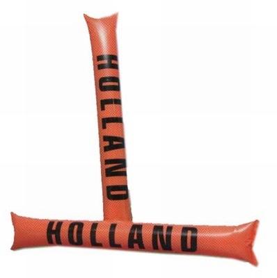 """Opblaasbare stick  """" Holland """"  oranje"""
