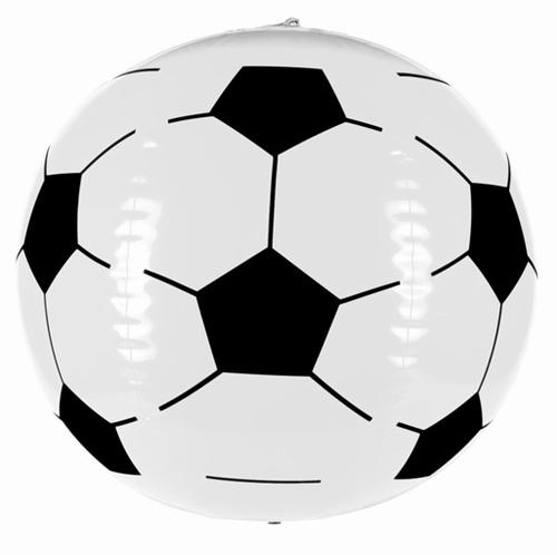 """Opblaasbare  """" Voetbal """"  Wit"""