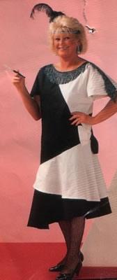 """Charleston jurk  """" Zwart / wit """""""