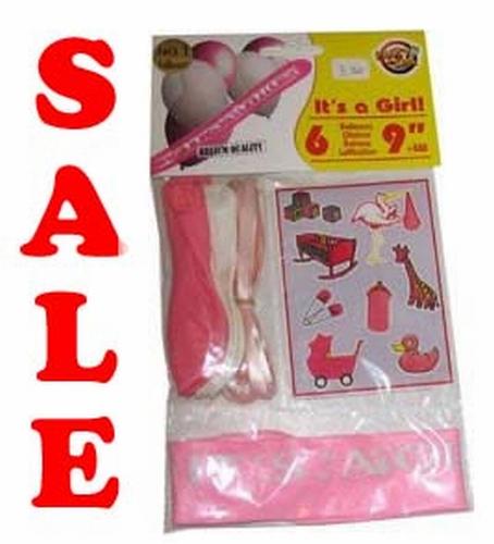 "Geboorte ballonnen + stickers  ""It 's a girl ""  set 6 stuks"