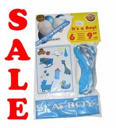 """Geboorte ballonnen + stickers """"It 's a boy """" set van 6 stuks"""