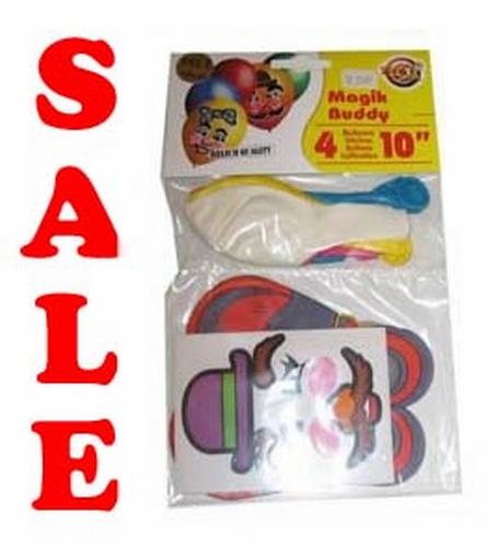 """Ballonnen + stickers """" Magic poppetjes """" set van 4 stuks"""