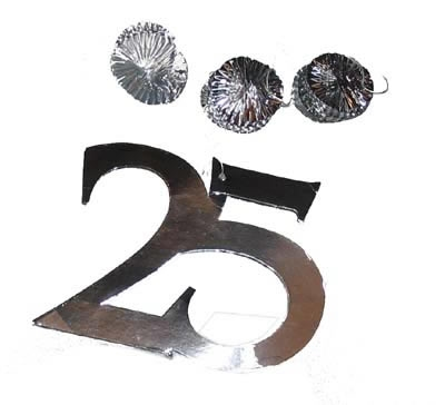"Decoratie slinger  "" 25 """