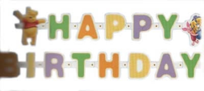 """Letterslinger  """" Happy Brithday """" Winnie the Pooh"""