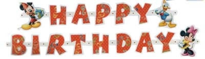 """Letterslinger  """" Happy Brithday """"  Mickey mouse"""